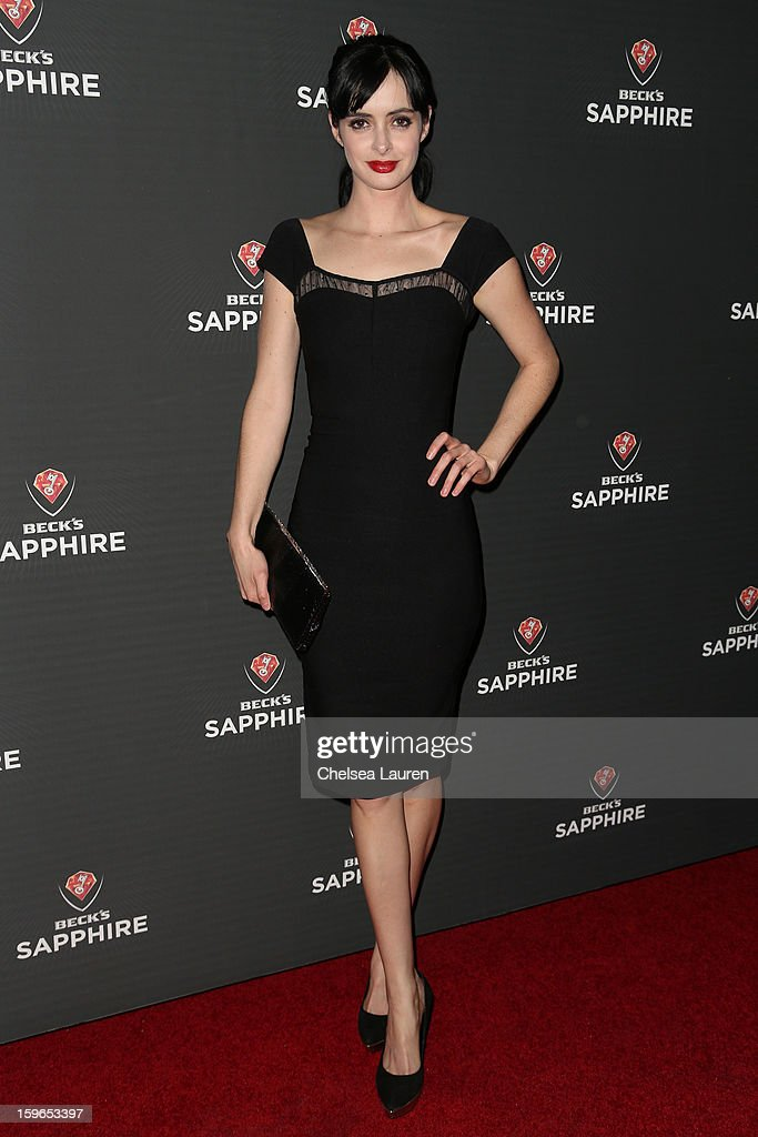Actress Krysten Ritter arrives at the Beck's Sapphire launch event on January 17, 2013 in Beverly Hills, California.