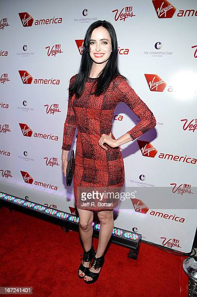 Actress Krysten Ritter arrives at The Cosmopolitan of Las Vegas to celebrate the launch of Virgin America's new route from Los Angeles International...
