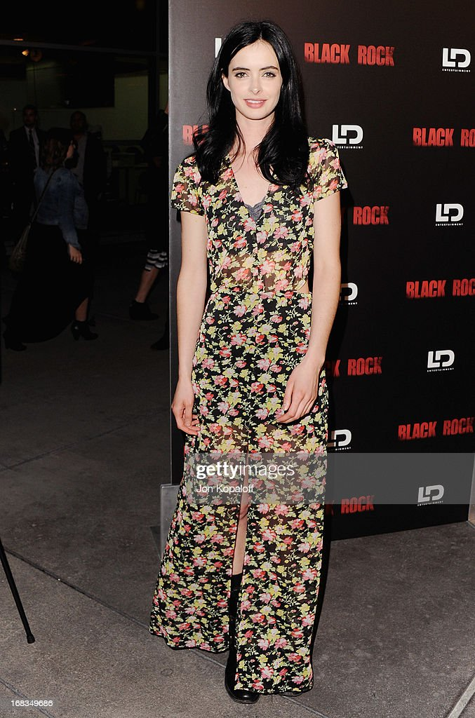 Actress Krysten Ritter arrives at the Los Angeles Premiere 'Black Rock' at ArcLight Hollywood on May 8, 2013 in Hollywood, California.