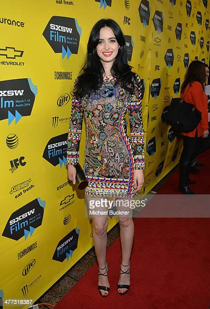 Actress Krysten Ritter arrives at the premiere of 'Veronica Mars' during the 2014 SXSW Music Film Interactive Festival at the Paramount Theatre on...