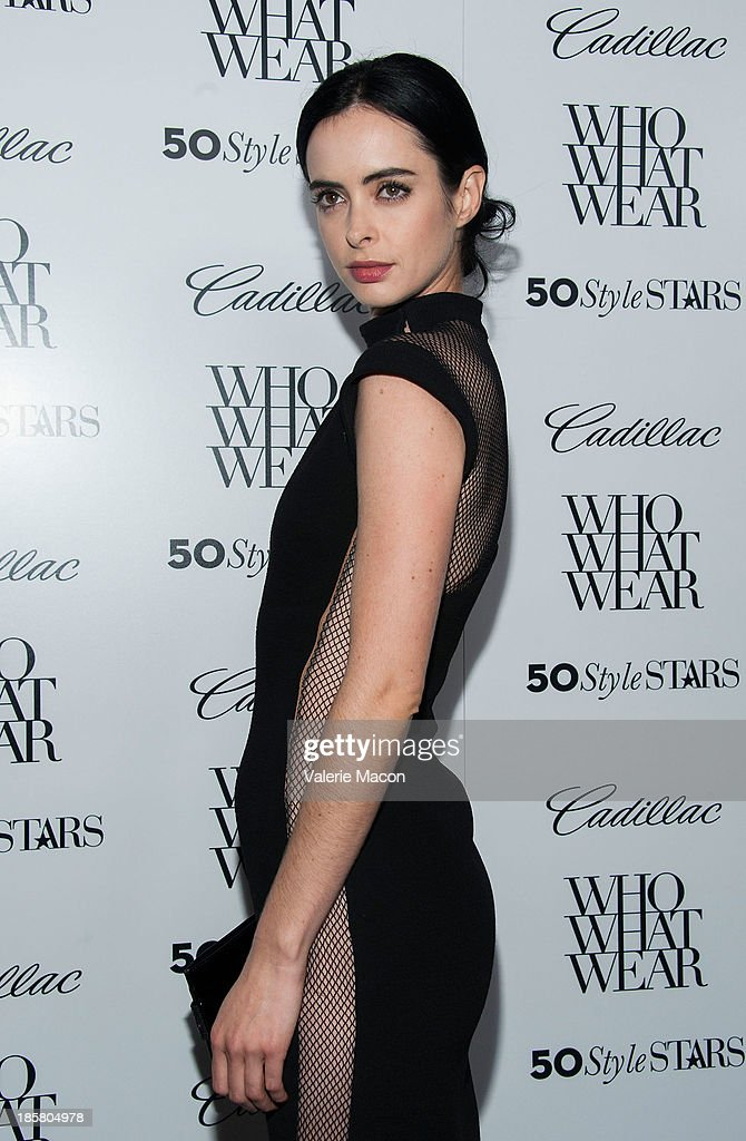 Actress Krysten Ritter arrives at the Who What Wear And Cadillac's 50 Most Fashionable Women Of 2013 Event at The London Hotel on October 24, 2013 in West Hollywood, California.