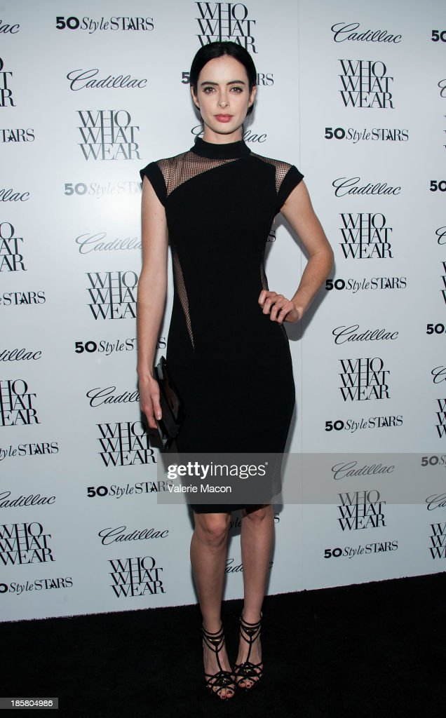 Actress <a gi-track='captionPersonalityLinkClicked' href=/galleries/search?phrase=Krysten+Ritter&family=editorial&specificpeople=655673 ng-click='$event.stopPropagation()'>Krysten Ritter</a> arrives at the Who What Wear And Cadillac's 50 Most Fashionable Women Of 2013 Event at The London Hotel on October 24, 2013 in West Hollywood, California.