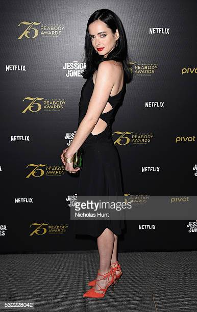 Actress Krysten Ritter attends a cast and crew discussion with Marvel's 'Jessica Jones' at the New York Institute of Technology on May 18 2016 in New...