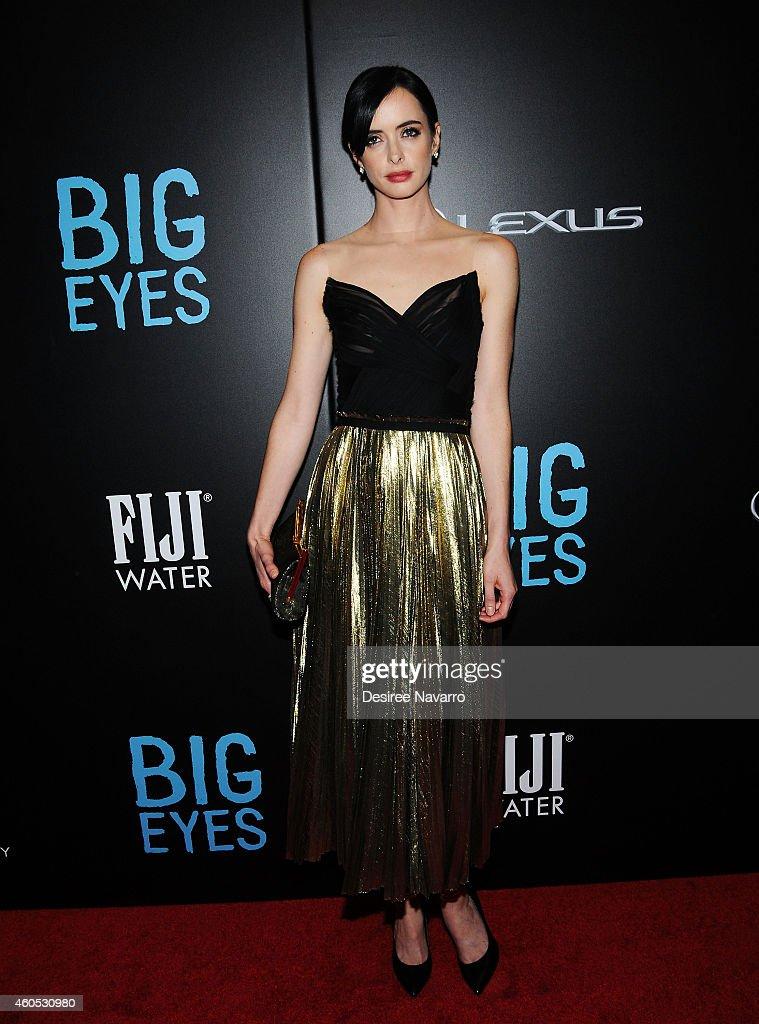 Actress Krysten Ritter attends 'Big Eyes' New York Premiere at Museum of Modern Art on December 15 2014 in New York City