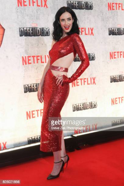 Actress Krysten Ritter attends 'Marvel's The Defenders' New York premiere at Tribeca Performing Arts Center on July 31 2017 in New York City