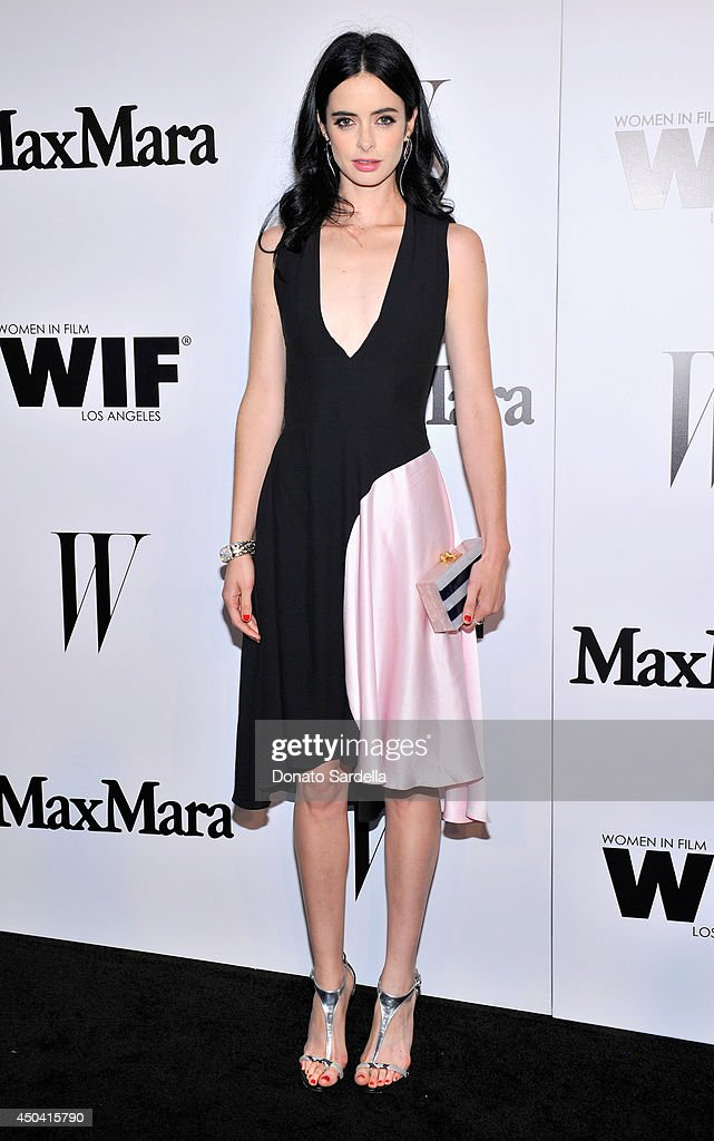 Actress Krysten Ritter attends MaxMara And W Magazine Cocktail Party To Honor The Women In Film MaxMara Face Of The Future, Rose Byrne at Chateau Marmont on June 10, 2014 in Los Angeles, California.