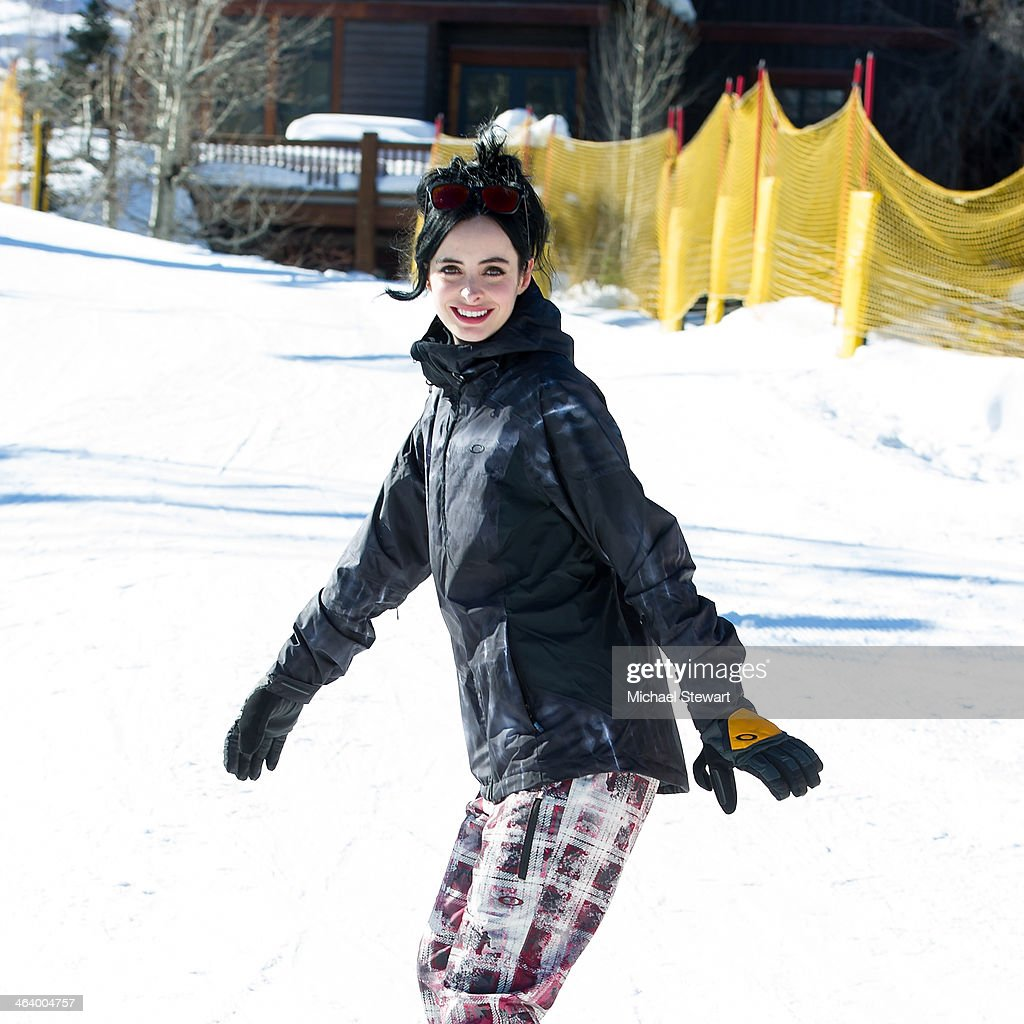 Actress <a gi-track='captionPersonalityLinkClicked' href=/galleries/search?phrase=Krysten+Ritter&family=editorial&specificpeople=655673 ng-click='$event.stopPropagation()'>Krysten Ritter</a> attends Oakley Learn To Ride With AOL At Sundance Day 3 on January 19, 2014 in Park City, Utah.
