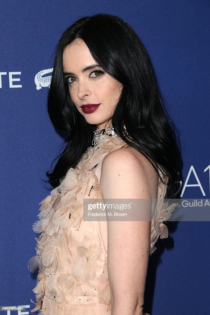 Actress Krysten Ritter attends the 18th Costume Designers Guild Awards with Presenting Sponsor LACOSTE at The Beverly Hilton Hotel on February 23, 2016 in Beverly Hills, California.
