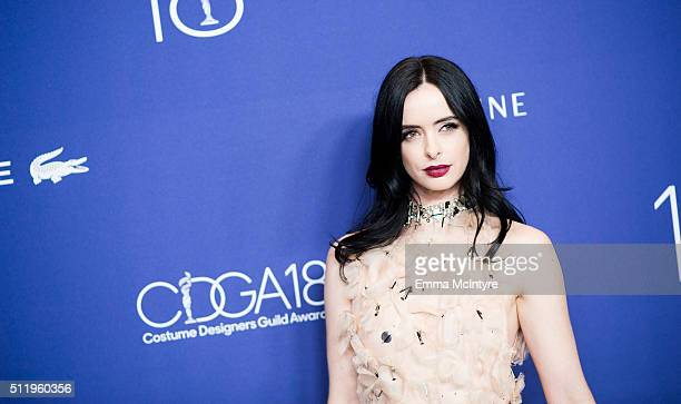 Actress Krysten Ritter attends the 18th Costume Designers Guild Awards with Presenting Sponsor LACOSTE at The Beverly Hilton Hotel on February 23...