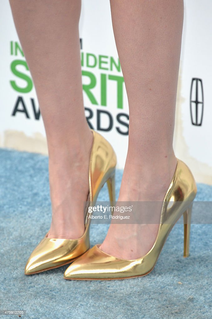 Actress Krysten Ritter (fashion detail) attends the 2014 Film Independent Spirit Awards at Santa Monica Beach on March 1, 2014 in Santa Monica, California.