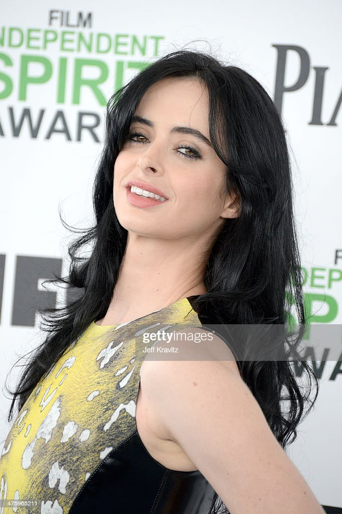 Actress <a gi-track='captionPersonalityLinkClicked' href=/galleries/search?phrase=Krysten+Ritter&family=editorial&specificpeople=655673 ng-click='$event.stopPropagation()'>Krysten Ritter</a> attends the 2014 Film Independent Spirit Awards on March 1, 2014 in Santa Monica, California.