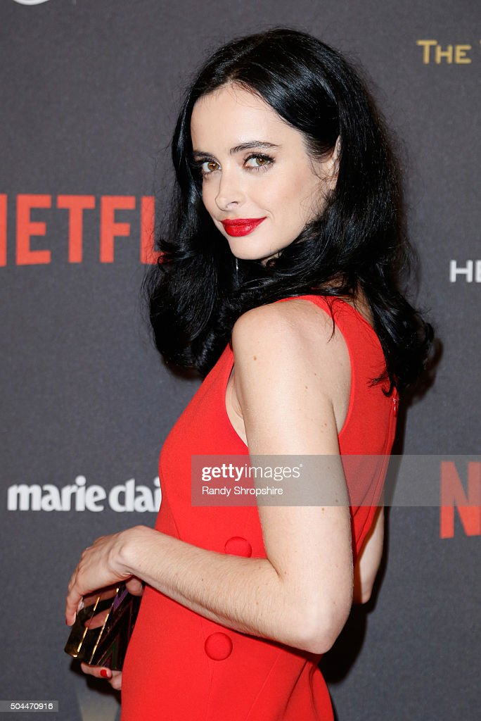 Actress Krysten Ritter attends the 2016 Weinstein Company and Netflix Golden Globe Awards After Party at The Beverly Hilton on January 10 2016 in Los...