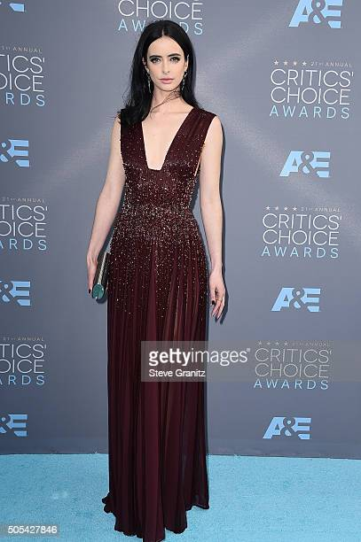 Actress Krysten Ritter attends the 21st Annual Critics' Choice Awards at Barker Hangar on January 17 2016 in Santa Monica California