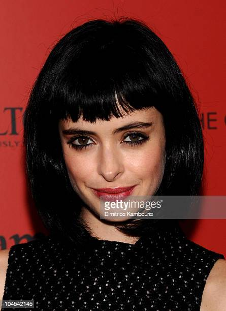 Actress Krysten Ritter attends the Cinema Society and Altoid's screening of 'Tamara Drewe' at the Crosby Street Hotel on September 27 2010 in New...