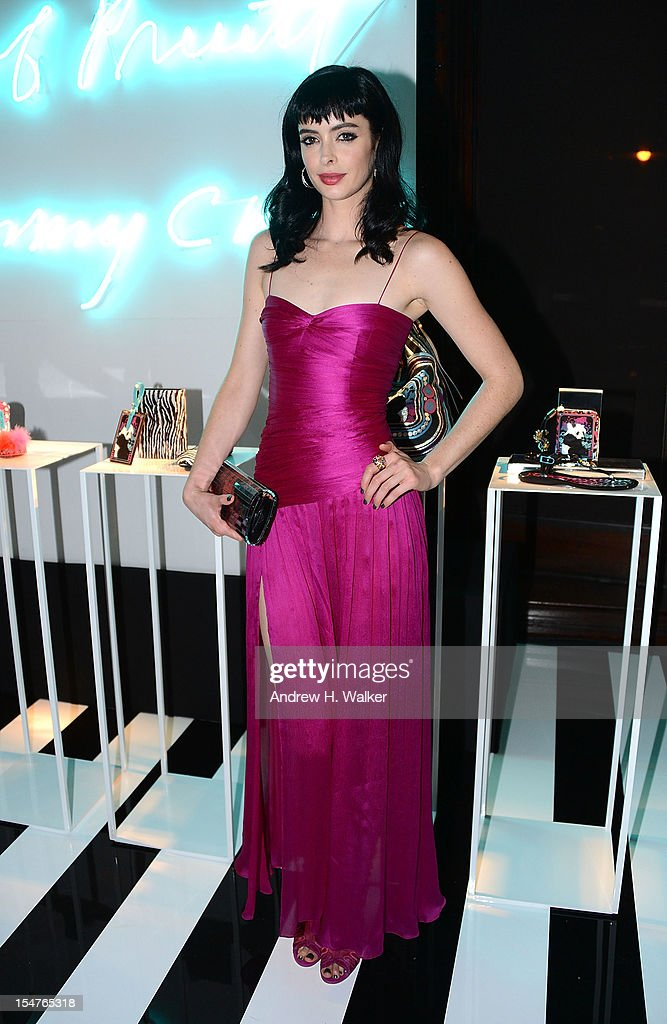 Actress Krysten Ritter attends the Jimmy Choo and Rob Pruitt Collection Launch on October 25, 2012 in New York City.