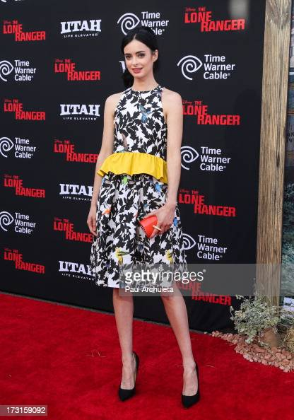 Actress Krysten Ritter attends 'The Lone Ranger' Los Angeles premiere at Disney California Adventure Park on June 22 2013 in Anaheim California