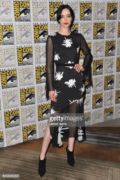 Actress Krysten Ritter attends the 'Marvel's The Defenders' press line at Comic Con on July 21 2017 in San Diego California
