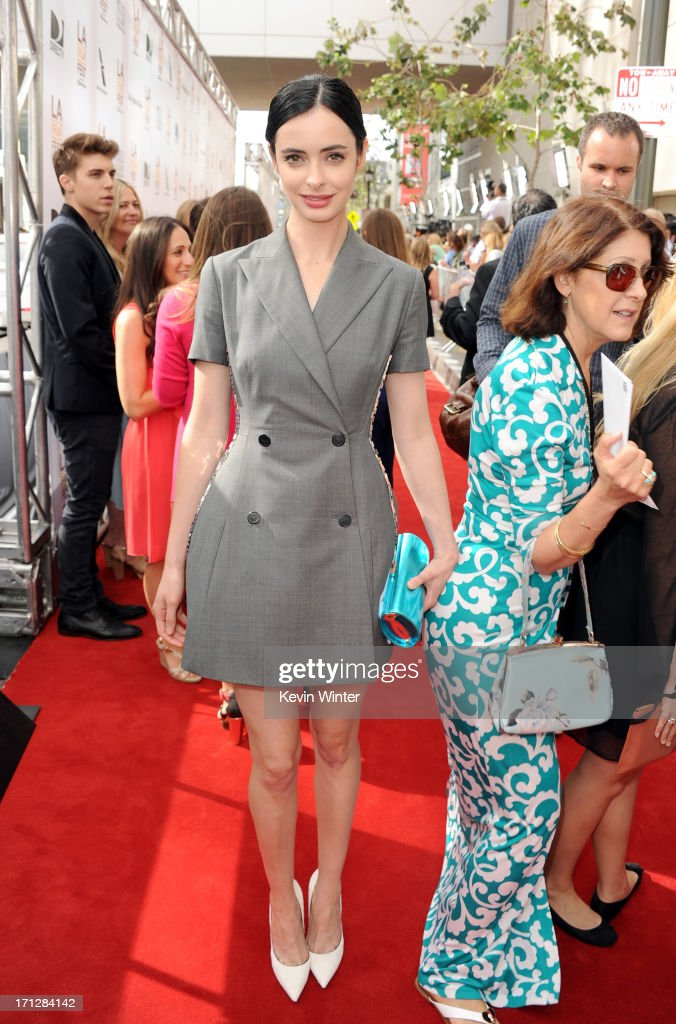 Actress <a gi-track='captionPersonalityLinkClicked' href=/galleries/search?phrase=Krysten+Ritter&family=editorial&specificpeople=655673 ng-click='$event.stopPropagation()'>Krysten Ritter</a> attends the premiere of Fox Searchlight Pictures' 'The Way, Way Back' at Regal Cinemas L.A. Live on June 23, 2013 in Los Angeles, California.