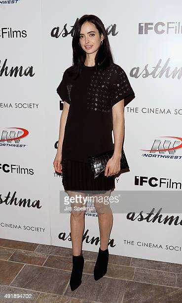 Actress Krysten Ritter attends the screening of IFC Films' Asthma hosted by The Cinema Society and Northwest at the The Roxy Hotel on October 8 2015...