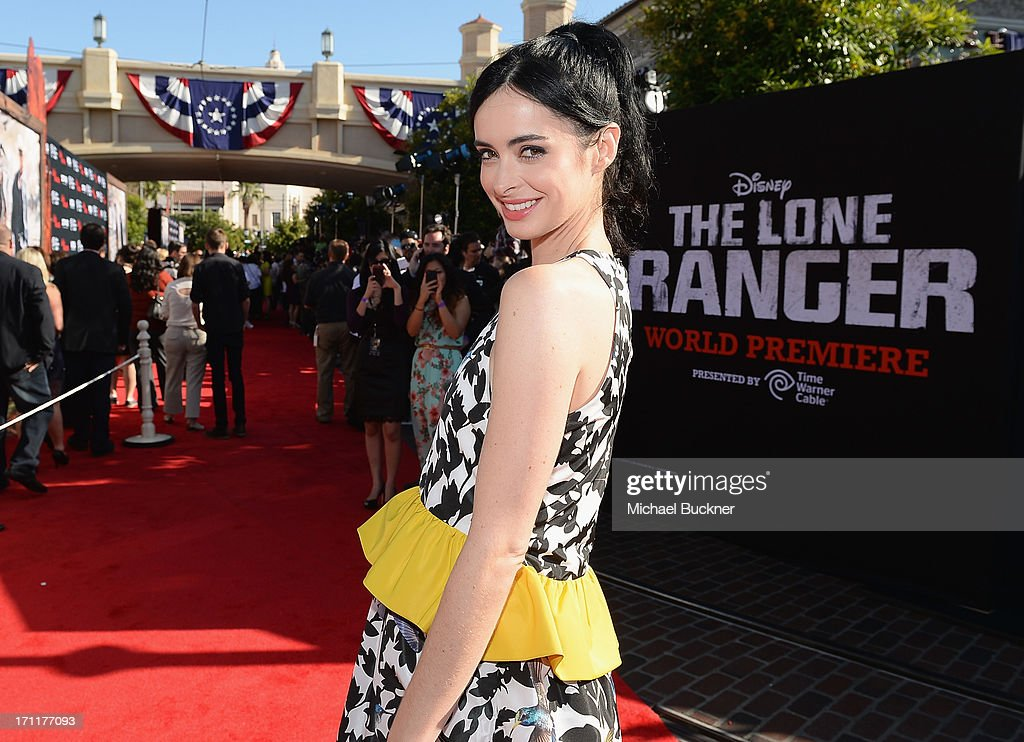 Actress <a gi-track='captionPersonalityLinkClicked' href=/galleries/search?phrase=Krysten+Ritter&family=editorial&specificpeople=655673 ng-click='$event.stopPropagation()'>Krysten Ritter</a> attends The World Premiere of Disney/Jerry Bruckheimer Films' 'The Lone Ranger' at Disney California Adventure Park on June 22, 2013 in Anaheim, California.