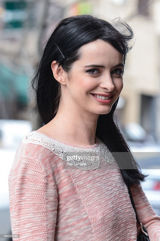 Actress Krysten Ritter enters her Soho hotel on March 20, 2013 in New York City.