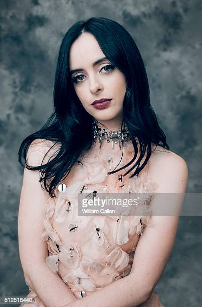 Actress Krysten Ritter poses for a portrait at the 18th Costume Designers Guild Awards at The Beverly Hilton Hotel on February 23 2016 in Beverly...