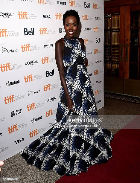 Actress Kuoth Wiel attends 'The Good Lie' premiere during the 2014 Toronto International Film Festival at The Elgin on September 7 2014 in Toronto...
