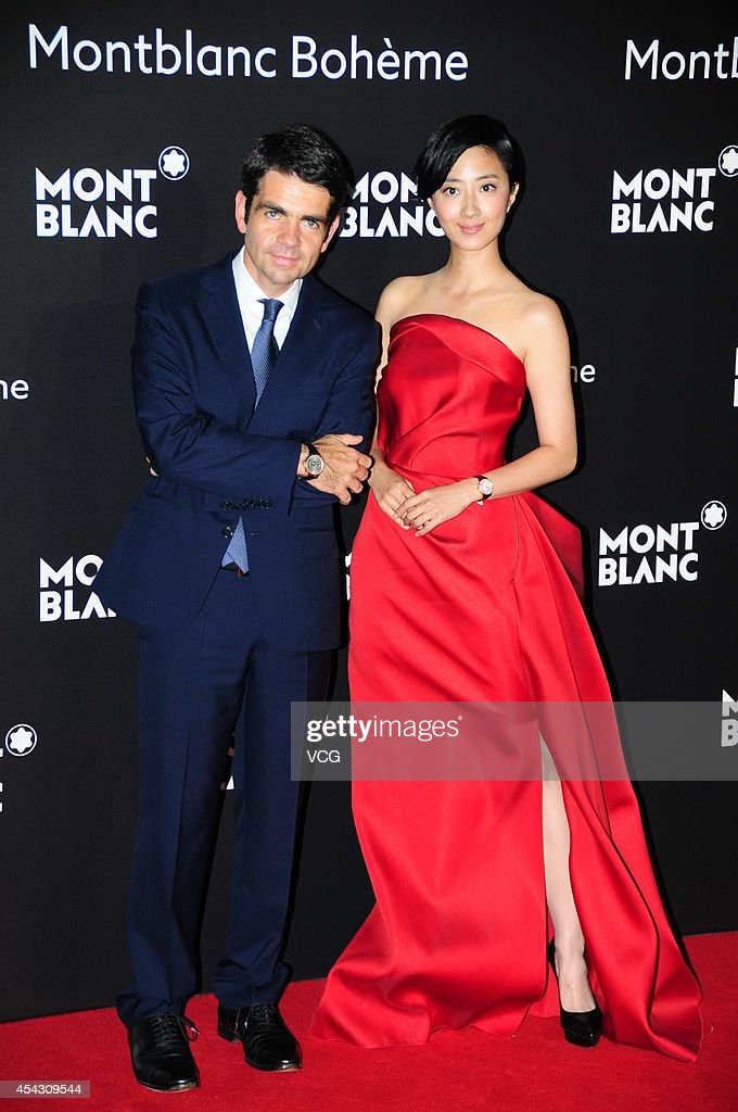 Actress Kwai Lun Mei and CEO of Montblanc International Jerome Lambert attend the Montblanc Boheme Collection launch event at The Peninsula Shanghai...