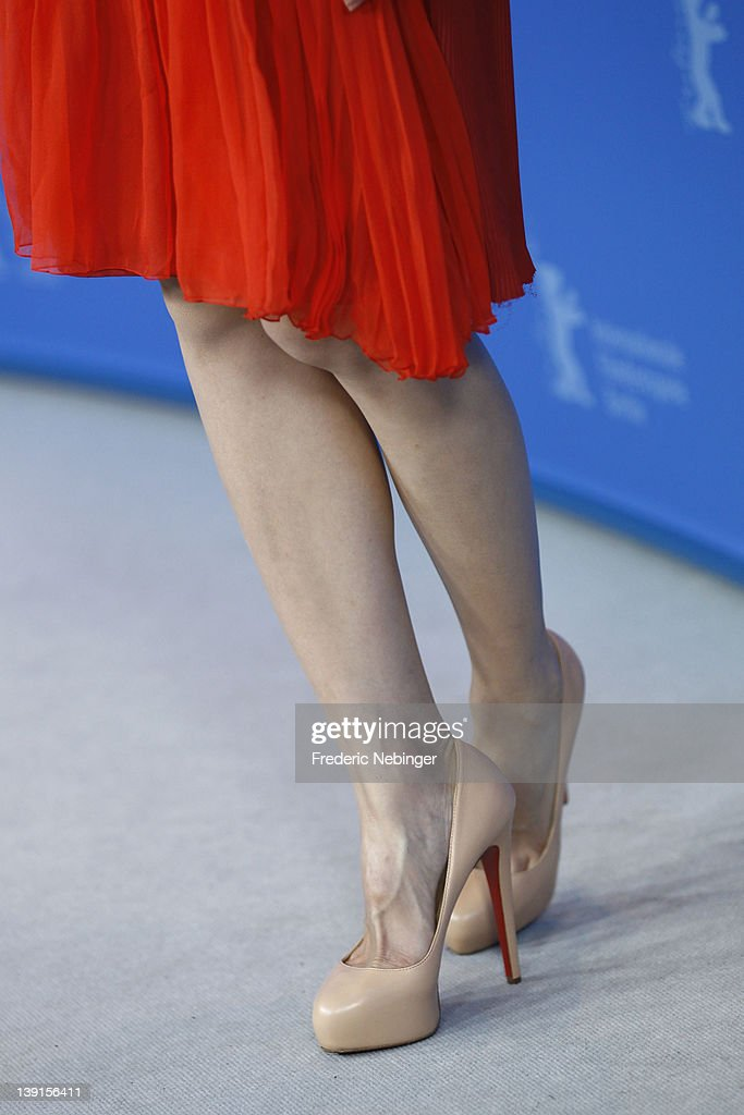 Actress Kwai Lun Mei (shoe detail) attends the 'Flying Swords Of Dragon Gate' Photocall during day nine of the 62nd Berlin International Film Festival at the Grand Hyatt on February 17, 2012 in Berlin, Germany.