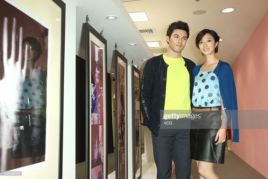 Actress Kwai Lun-Mei and actor Rhydian Vaughan attend Paul Smith Photo Exhibition openning ceremony at Breeze Center on October 16, 2012 in Taipei, Taiwan.
