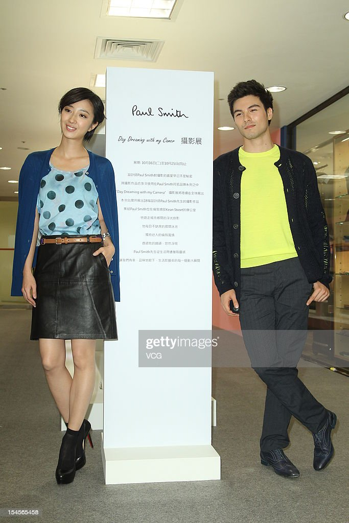 Actress Kwai Lun-Mei and actor Rhydian Vaughan attend Paul Smith Photo Exhibition opening ceremony at Breeze Center on October 16, 2012 in Taipei, Taiwan.