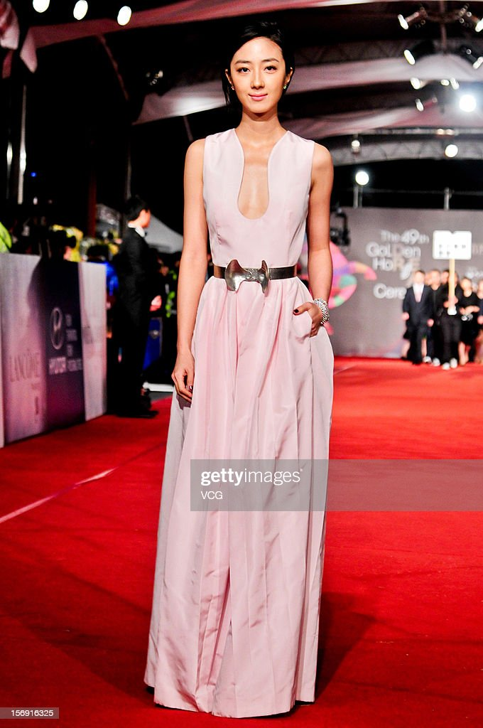 Actress Kwai Lun-Mei arrives at the red carpet of the 49th Golden Horse Awards at the Luodong Cultural Working House on November 24, 2012 in Ilan, Taiwan.