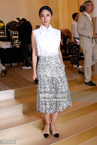 Actress Kwai LunMei attends the Chanel show as part of Paris Fashion Week Haute Couture Fall/Winter 2015/2016 Held at Grand Palais on July 7 2015 in...