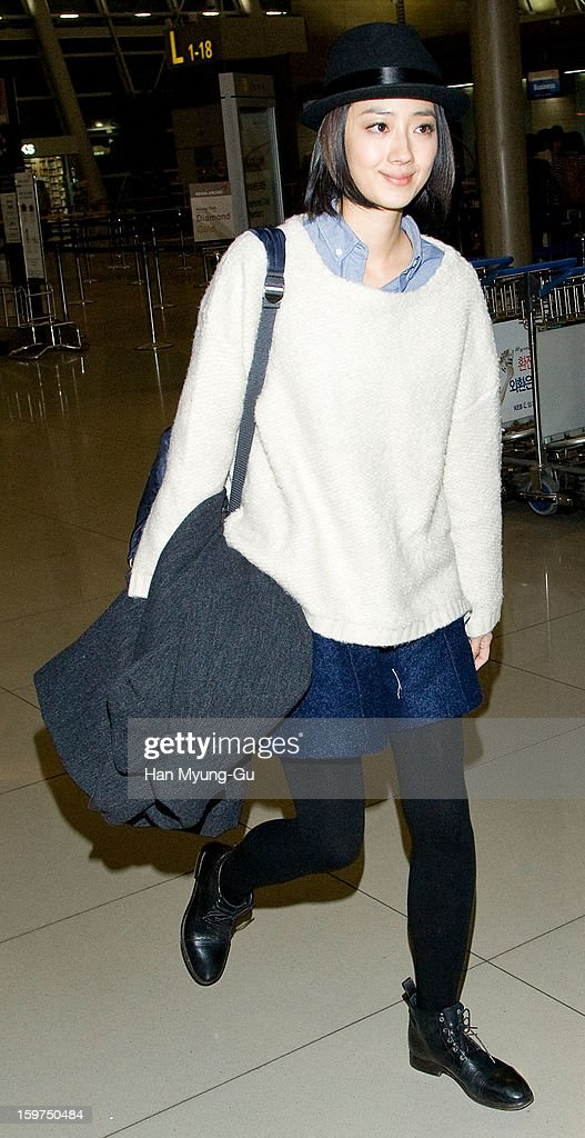 Actress Kwai Lun-Mei form Taiwan is seen on departure at Incheon International Airport on January 19, 2013 in Incheon, South Korea.