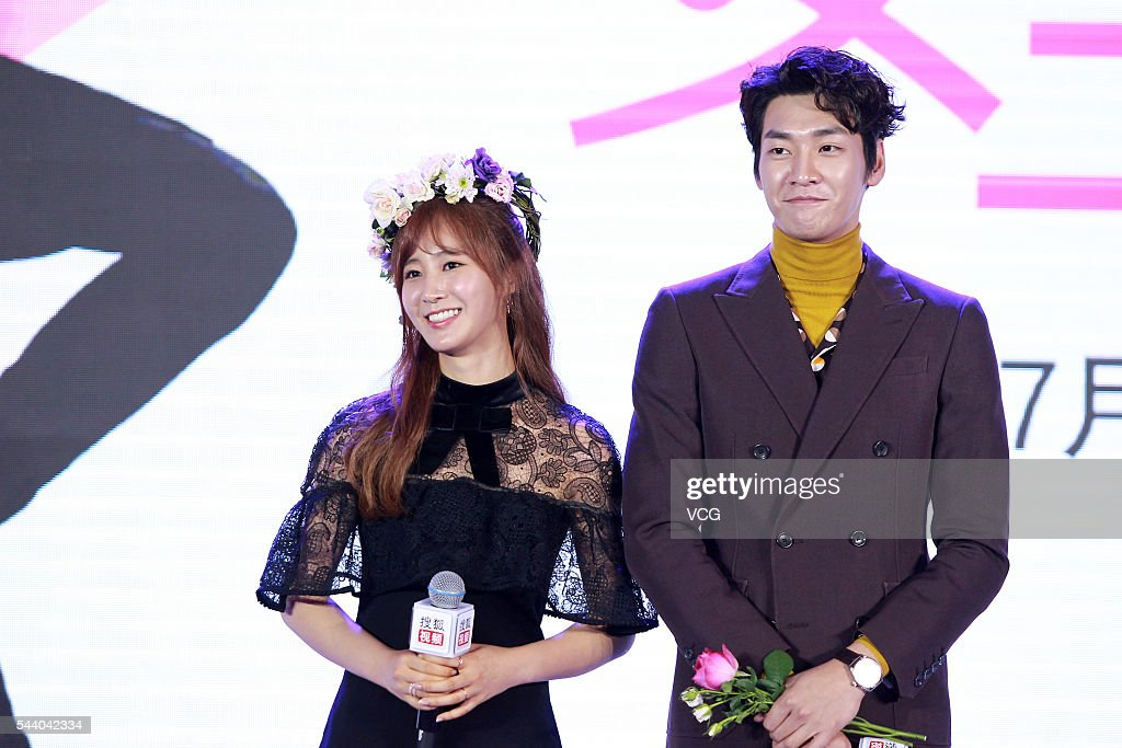 Actress Kwon YuRi of South Korean girl group Girls' Generation and actor Kim Young Kwang attend web drama 'Gogh The Starry Night' press conference on...