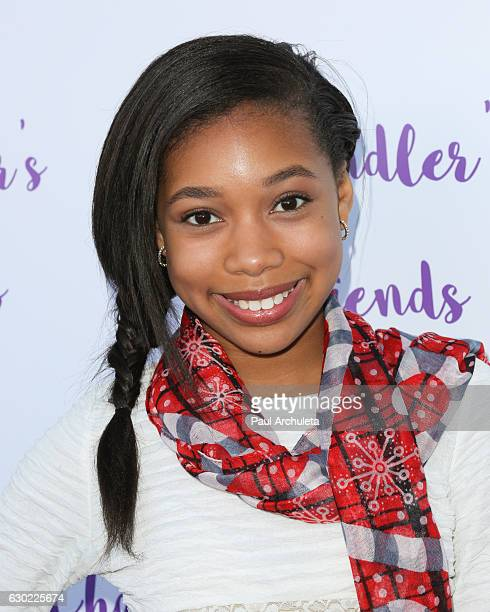Actress Kyla Drew attends the 'Chandler's Friends' toy wrapping party on behalf of Hasbro's The Joy Maker Challenge at Los Angeles Ballet Academy on...