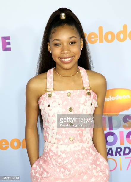 Actress Kyla Drew Simmons attends Nickelodeon's 2017 Kids' Choice Awards at USC Galen Center on March 11 2017 in Los Angeles California