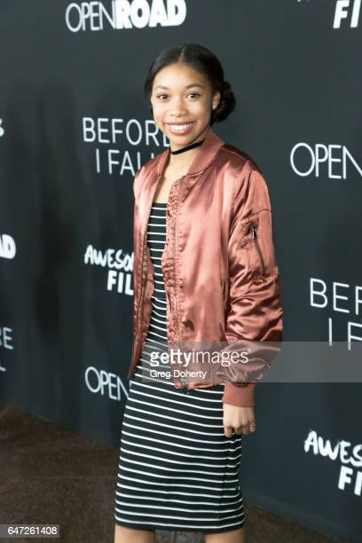 Actress Kyla Drew Simmons attends the Premiere Of Open Road Films' 'Before I Fall' at the Directors Guild Of America on March 1 2017 in Los Angeles...