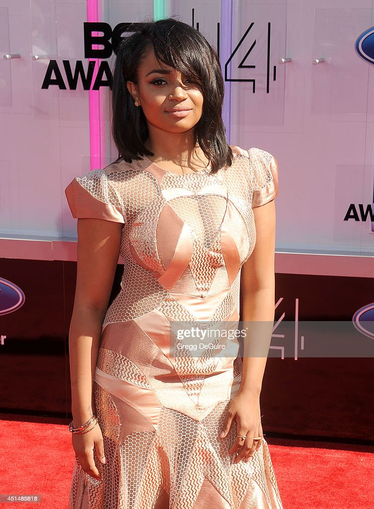 Actress Kyla Pratt arrives at the BET AWARDS 14 at Nokia Theatre LA Live on June 29 2014 in Los Angeles California