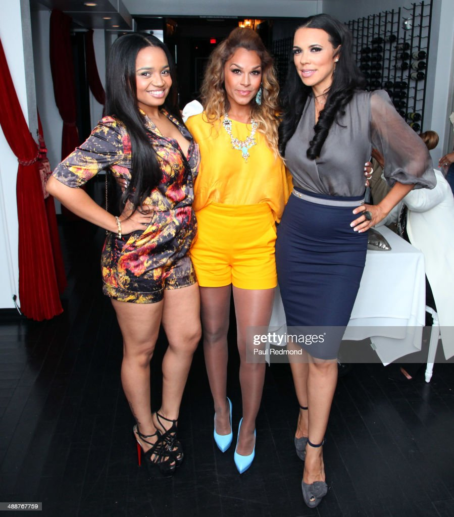 Actress Kyla Pratt with TV personalities Sheree Fletcher and Shamicka Lawrence attending VH1's 'Hollywood Exes' Premiere Screening Party at Philippe...