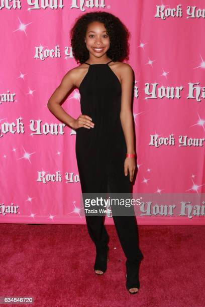 Actress KylaDrew attends Rock Your Hair presents 'Valentine's Rocks' at The Avalon Hotel on February 11 2017 in Los Angeles California