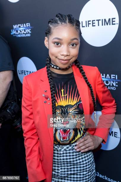 Actress KylaDrew Simmons arrives at the Lifetime Hosts Fan Gala And Advance Screening For 'Michael Jackson Searching For Neverland' at Avalon on May...