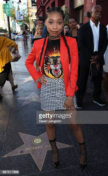 Actress KylaDrew Simmons attends a fan gala and advance screening for 'Michael Jackson Searching for Neverland' hosted by Lifetime at Avalon on May...