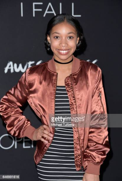 Actress KylaDrew Simmons attends the premiere of Open Road Films' 'Before I Fall' at Directors Guild Of America on March 1 2017 in Los Angeles...