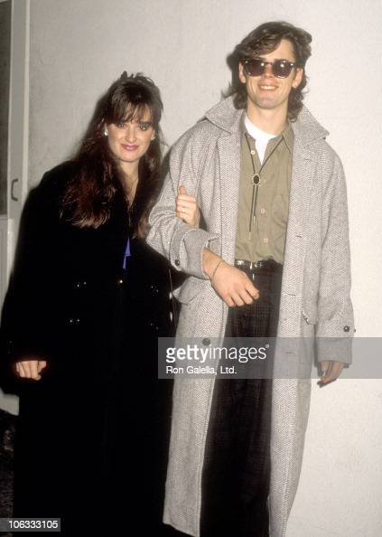 Actress Kyle Richards and actor C Thomas Howell on January 2 1986 dine at Spago in West Hollywood California
