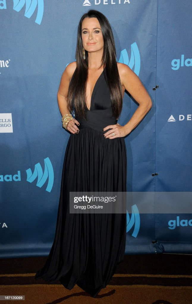 Actress Kyle Richards arrives at the 24th Annual GLAAD Media Awards at JW Marriott Los Angeles at L.A. LIVE on April 20, 2013 in Los Angeles, California.