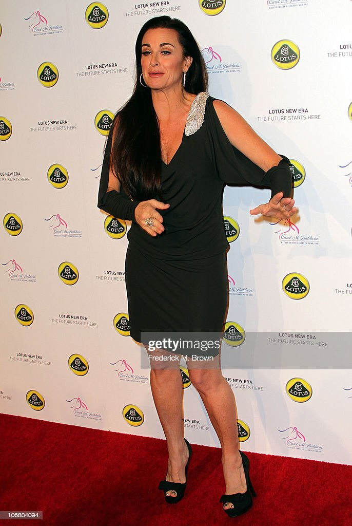 Actress <a gi-track='captionPersonalityLinkClicked' href=/galleries/search?phrase=Kyle+Richards&family=editorial&specificpeople=2586434 ng-click='$event.stopPropagation()'>Kyle Richards</a> attends the Lotus Cars Launch event on November 12, 2010 in Los Angeles, California.