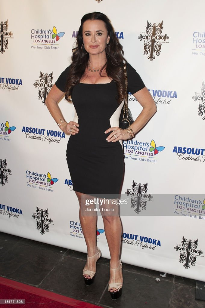 Actress <a gi-track='captionPersonalityLinkClicked' href=/galleries/search?phrase=Kyle+Richards&family=editorial&specificpeople=2586434 ng-click='$event.stopPropagation()'>Kyle Richards</a> hosts The Abbey's 8th Annual Christmas in September event benefiting The Children's Hospital Los Angeles at The Abbey on September 24, 2013 in West Hollywood, California.
