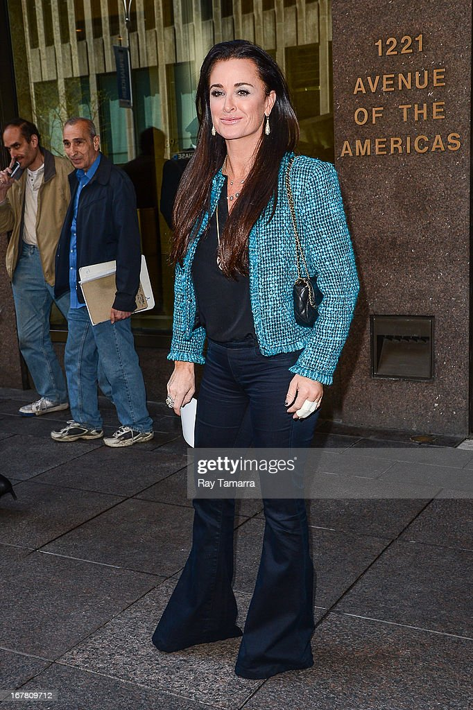 Actress Kyle Richards leaves the Sirius XM Studios on April 30, 2013 in New York City.