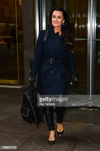 Actress Kyle Richards leaves the Sirius XM Studios on December 2 2014 in New York City